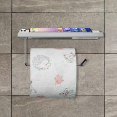 Držiak na toaletný papier s poličkou RD0710, kovový