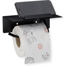 Držiak na toaletný papier s poličkou RD4384, čierny