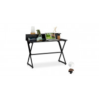 Čierny písací stôl s poličkou RD6055