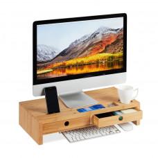 Stojan pod monitor s 2 zásuvkami RD5701, 56 cm