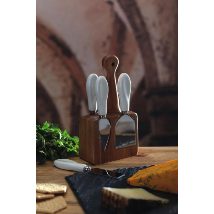 No e na syr so stojanom kitchen craft artesa cheese knife for Kitchen craft knife set