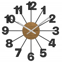 Drevené čierne hodiny Vlaha design VCT1071, 42 cm
