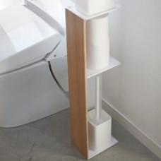 WC stojan Yamazaki Rin Slim Toilet Rack, svetlý