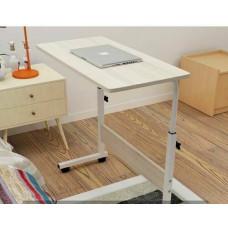 Nastaviteľný mobilný stojan pod notebook zent, svetlé drevo
