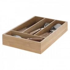 Bambusový príborník s príborom Secret de Gourmet 4459, 24 ks