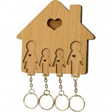 Domček so sadou kľúčeniek MIMI Rodina - rodičia, syn, syn
