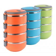 4 poschodový termoobedár 2,8 l rôzne farby