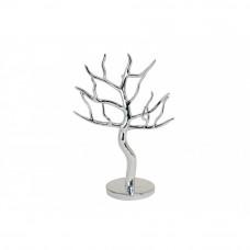 Držiak šperkov Strom, strieborný, 30 cm