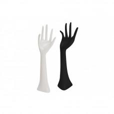Držiak šperkov Ruka v čiernom /bielom prevedení, 33cm
