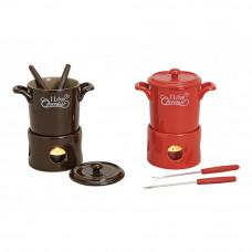 4 dielná sada na fondue keramická, čokoládové fondue, Wur570