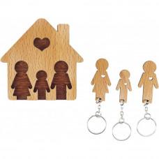Domček so sadou kľúčeniek MIMI Rodina - rodičia, syn