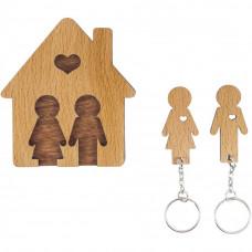 Domček so sadou kľúčeniek MIMI Rodina - Boy & Me