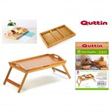 Skladací bambusový stolík Quttin 8088