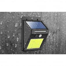 Vodotesná solárna LED lampa IS8814 s detektorom pohybu, čierna