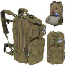 Zelený batoh Military XL IS8916, 30L