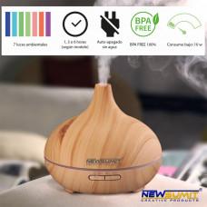 Aroma difuzér - zvlhčovač vzduchu svetlohnedý 0229, 150 ml