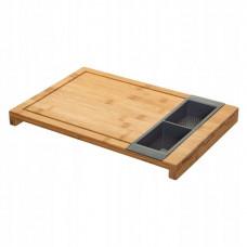 Bambusová doska na krájanie Five 2051, s odnímateľnými nádobami