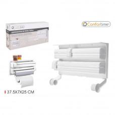 Dávkovač na papierové utierky a fólie Confortime 2302, biely