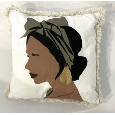 Dekoračný vankúš žena z profilu Atmosphera 8565, 40 x 40