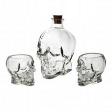 Karafa s pohármi Skull Secret de Gourmet 4693