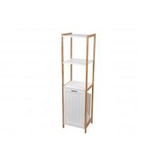 Kúpeľňový regál s košom na bielizeň 96BC