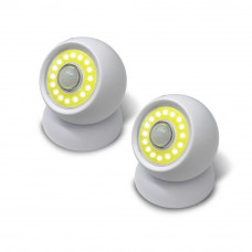 Bezdrôtové LED svetlo so snímačom pohybu 2 kusy VG5689, biele
