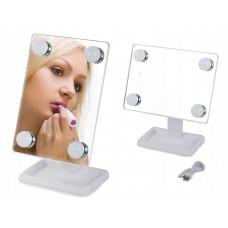 Kozmetické zrkadlo s LED svetlom VG5787, biele