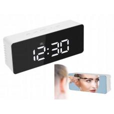 LCD hodiny so zrkadlom VG 457B, biele
