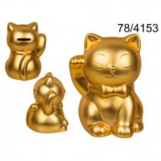 Pokladnička čínska mačka šťastia Kemi 4153, 16 cm