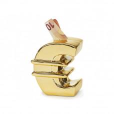 Pokladnička v tvare zlatého eura zent 5262, 14 cm