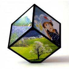 Rotujúci rámček na fotografie kocka Kemi 2183, 11 cm