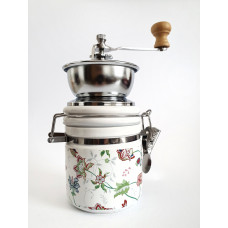 Keramický mlynček na kávu s otváraním EuB 2601, kvety