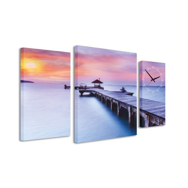 3-dielný obraz s hodnami, End of the day, 95x60cm