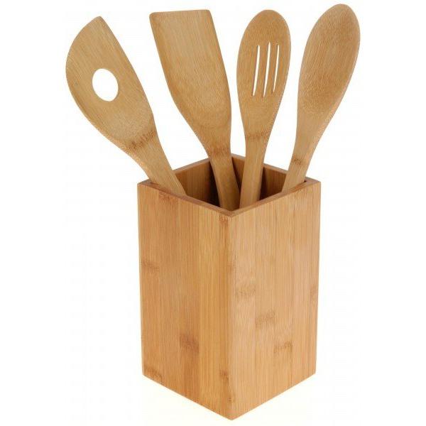 5-dielna sada kuchynského náčinia. Bambus
