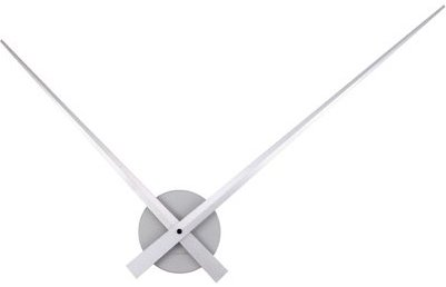 Nástenné hodiny Karlsson 450055, Little Big Time, strieborné 90cm