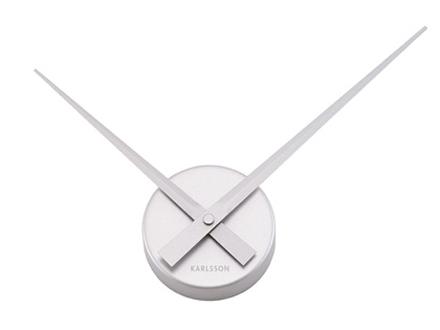 Nástenné hodiny Karlsson 4348SI, Little Big Time strieborné 45cm