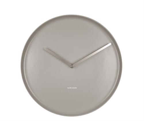 Nástenné hodiny Karlsson Plate KA5786GY, 35 cm