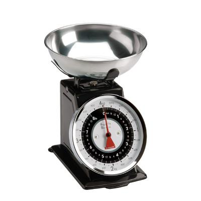 Kuchynská váha TYPHOON Retro, čierna