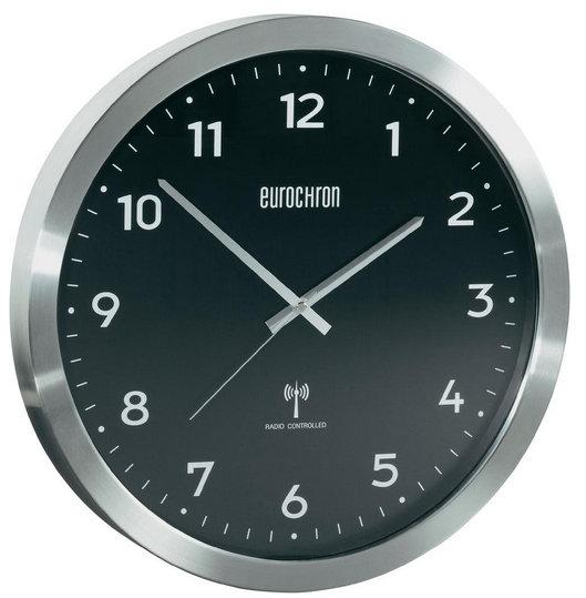 Nástenné DCF hodiny Eurochron EFWU 2601bk 38 cm