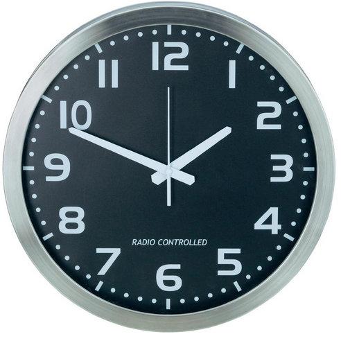 Nástenné DCF hodiny, hliník 40 cm