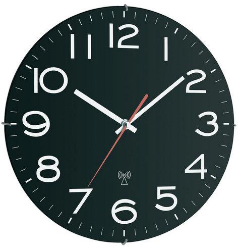 Nástenné DCF hodiny TFA 767, čierne 30 cm