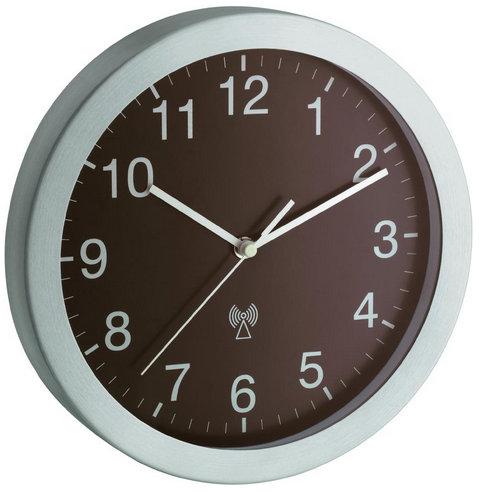 Nástenné DCF hodiny TFA 499 hnedé, 25 cm