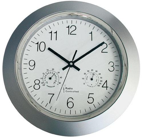 Nástenné DCF hodiny s teplomerom a vlhkomerom 160, 34cm