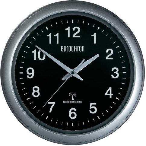 Nástenné DCF hodiny Eurochron 4601, BK, 33cm