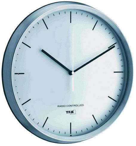 Nástenné DCF hodiny strieborná, EFR 31 cm