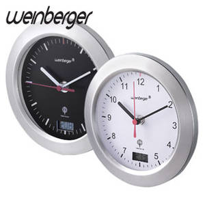 Nástenné DCF hodiny strieborná / čierna, 17 cm