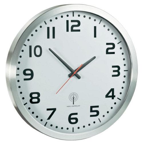 Nástenné DCF hodiny Maxie ALU, 50cm