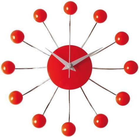 Nástenné hodiny Karlsson 4018 Spider červené 30cm