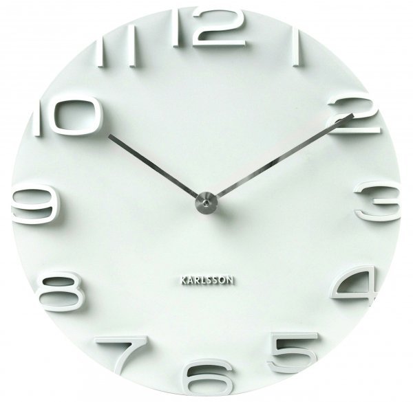 Nástenné hodiny Karlsson 5311WH, On The Edge, 42 cm