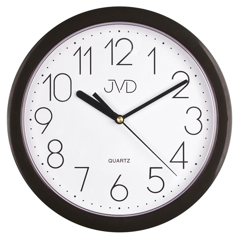 Nástenné hodiny quartz čierne Time h612.3 25cm